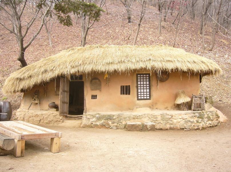Natural Home Building : Hyakusho natural building in korea