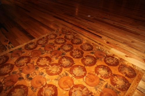 Log end tile flooring