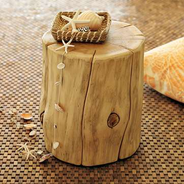 cyprus tree stump seat lamp stand or side table