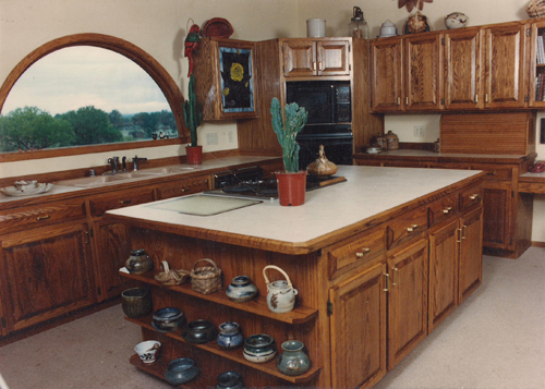 Custom kitchen built by the author