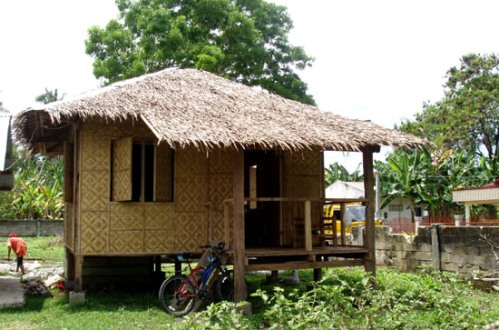 Philippine nipa hut made of palm, bamboo and other local materials