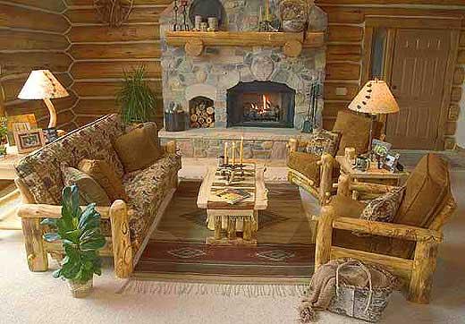 Diy rustic log furniture