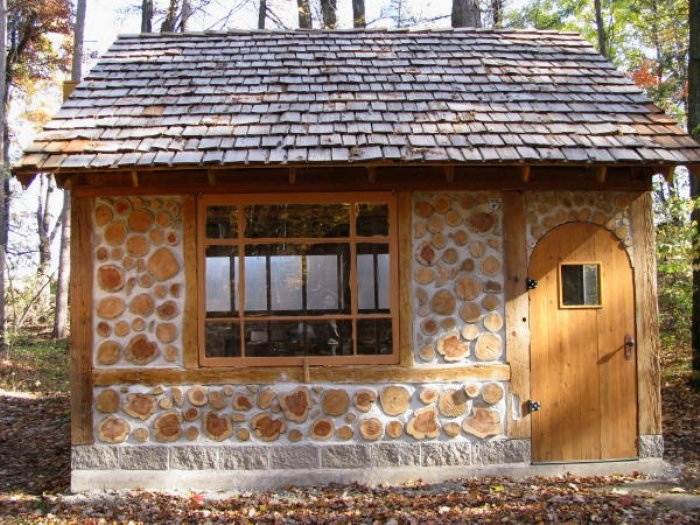galleries of cordwood homes sheds and cabins natural ForCordwood Shed