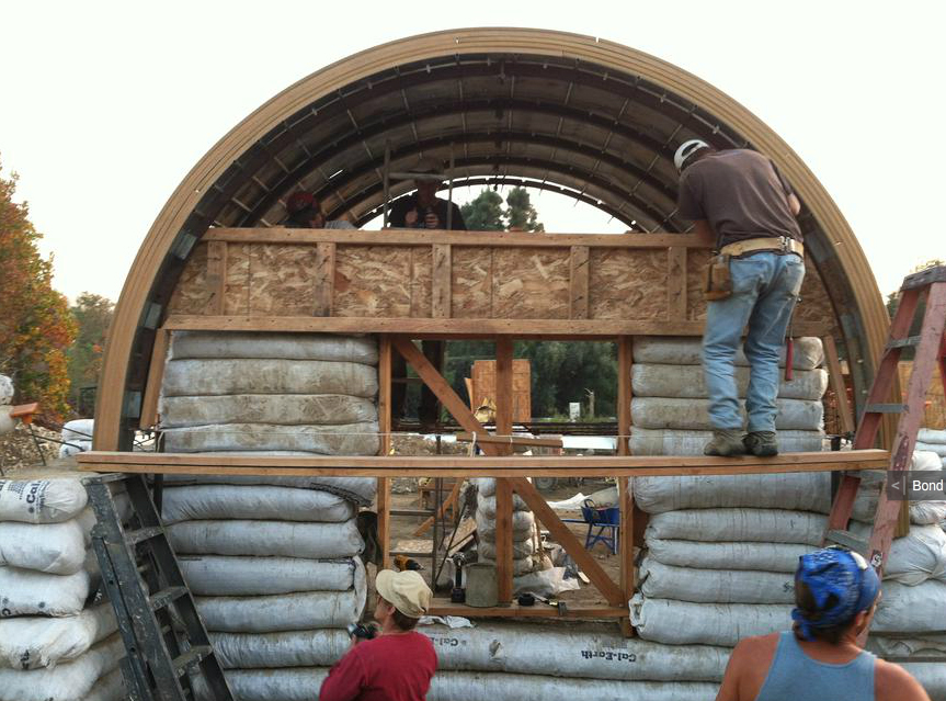 Earthbag vaults by United Earth Builders (click to enlarge)