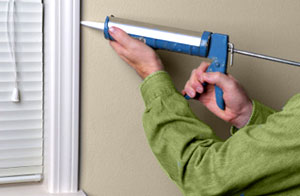 Seal gaps around doors, windows, outlets, pipe penetrations and other openings with caulk.