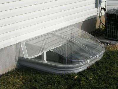 Clear window well covers allow light to enter while keeping out rain, snow, leaves and pests. Security grills are also available.