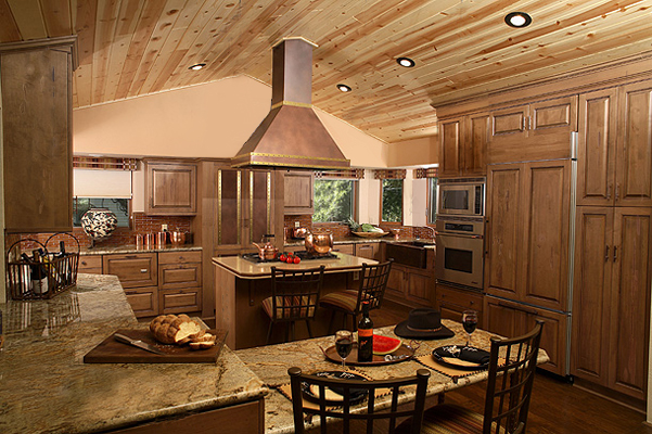 Wood kitchen with granite counters