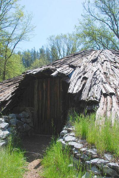 A wood hut
