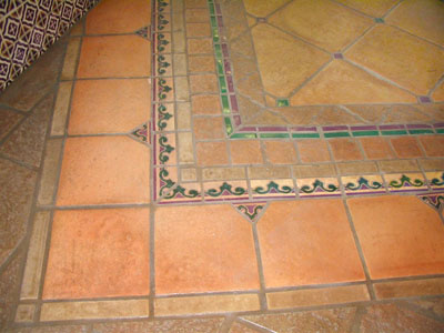 Fancy saltillo tile