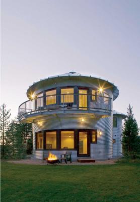 Another grain bin house
