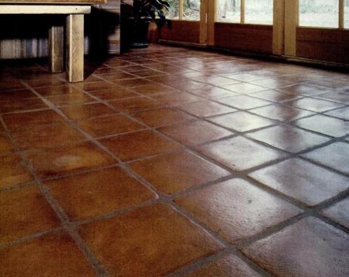 Soil-cement floor