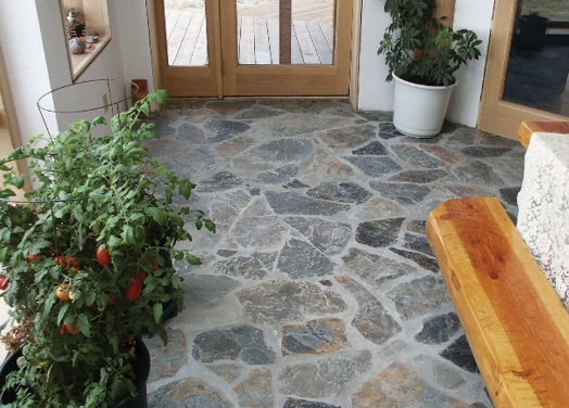 Natural Stone Flooring : Earth coupled floors natural building