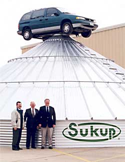 Sukup Grain Bins Earn 5,000 lb. Load Rating