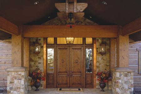 Timber frame entry
