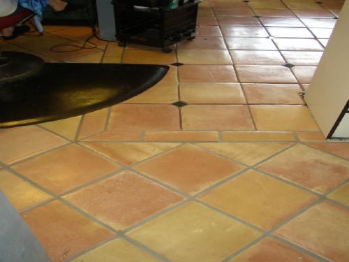 Yellow saltillo tile